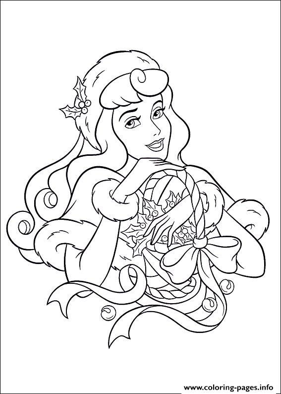 Princess Christmas coloring pages