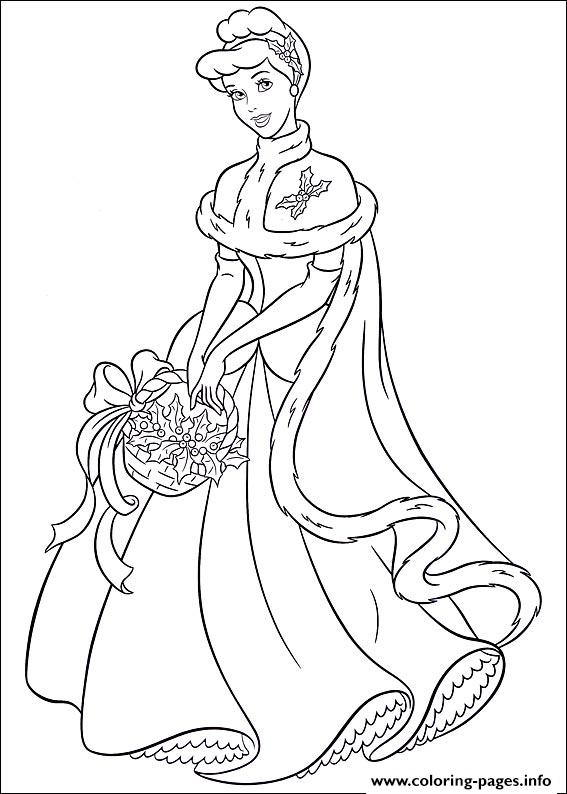 Princess Christmas 02 coloring pages