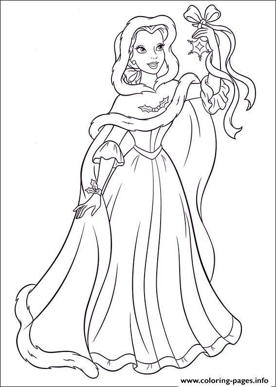 Princess Christmas 06 Coloring Pages Printable