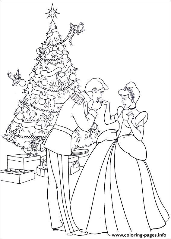 Princess christmas 08 coloring pages printable - Coloriage prin ...