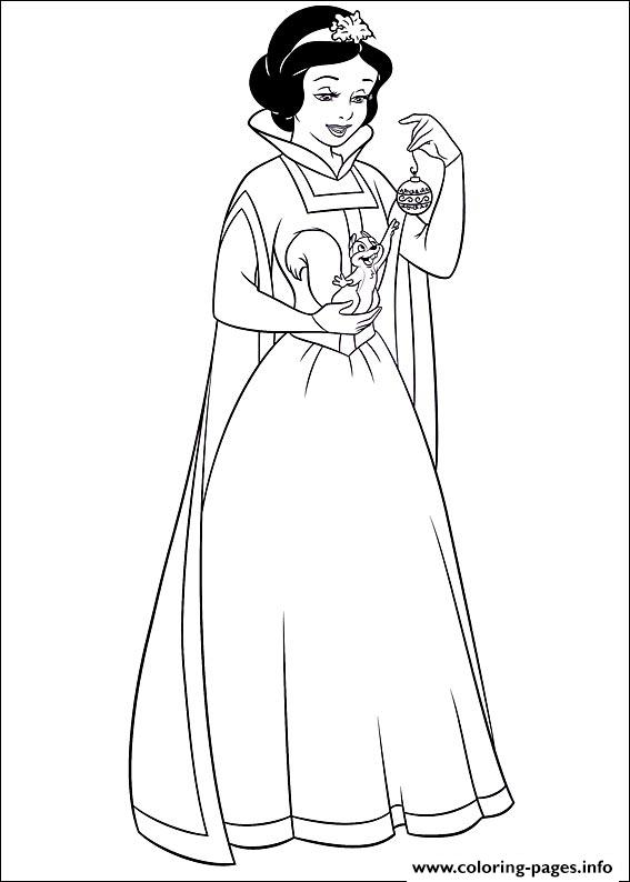 princess christmas 09 coloring pages