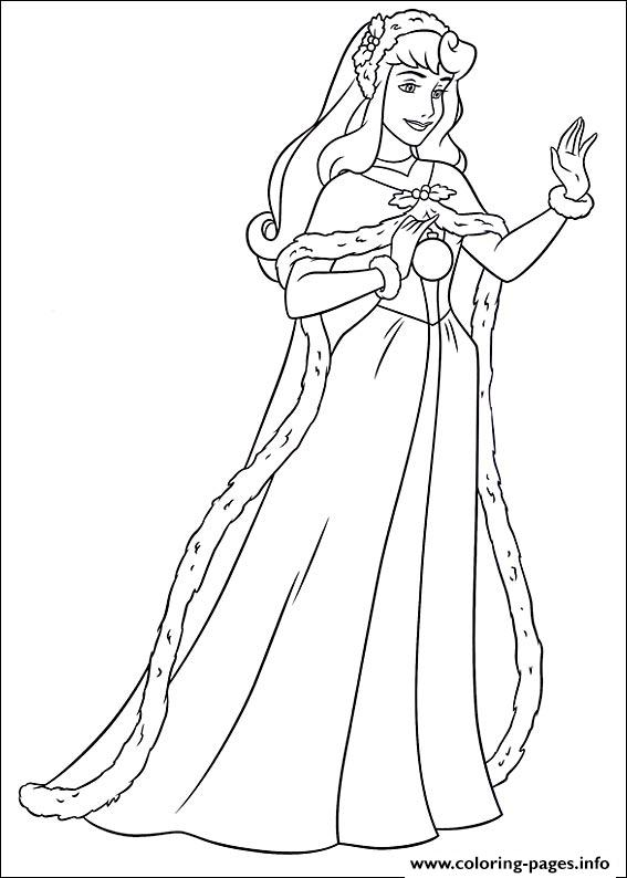 Princess Christmas 10 coloring pages