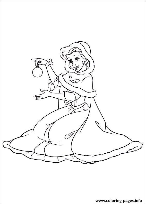 Princess Christmas 11 Coloring Pages Printable