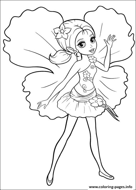 Barbie Thumbelina 20 coloring pages