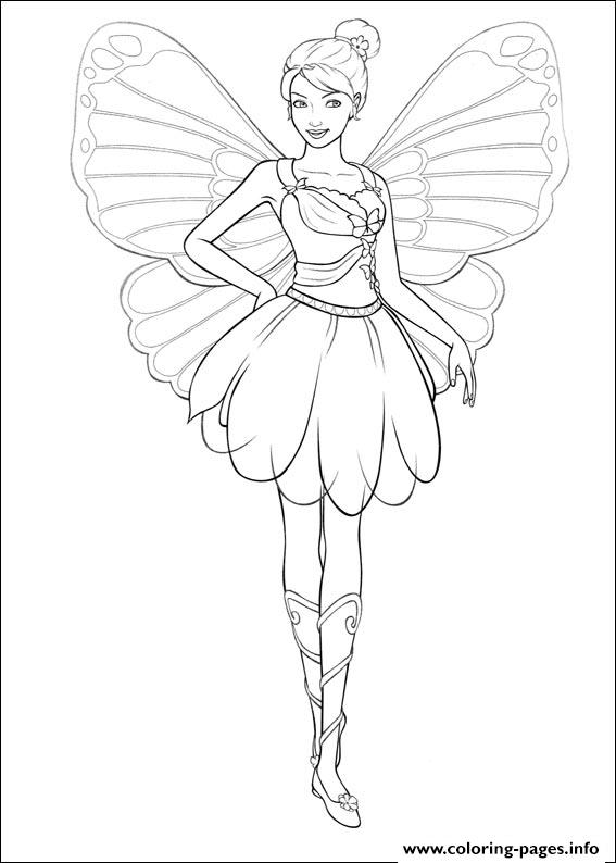 Barbie Mariposa 05 coloring pages