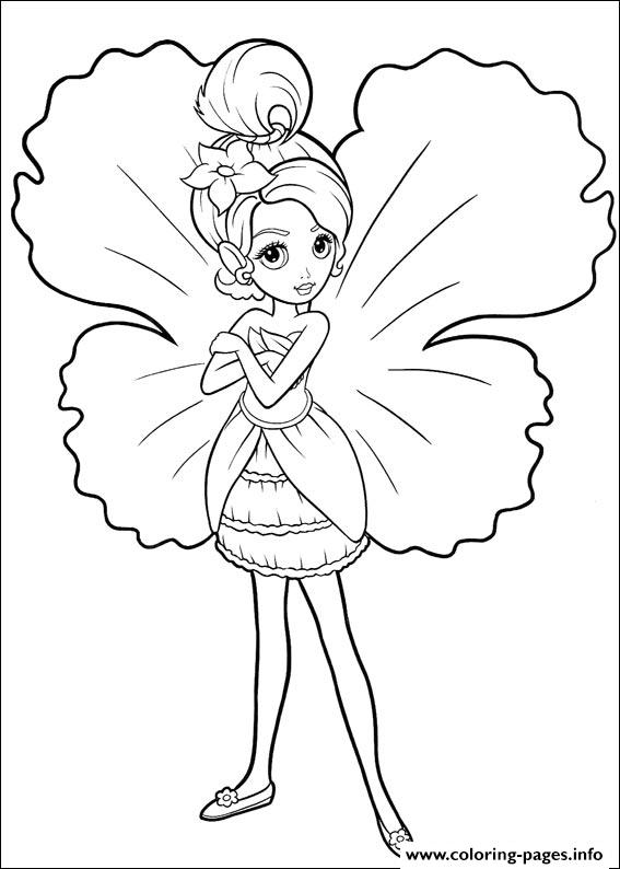 Barbie Thumbelina 21 coloring pages