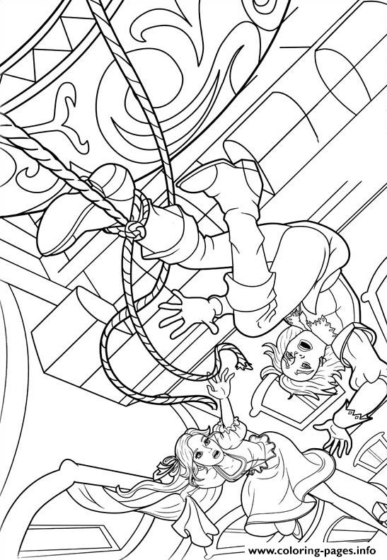 Barbie Musketeers 09 coloring pages