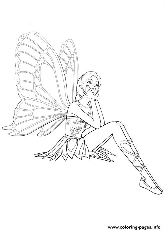 Barbie Mariposa 01 coloring pages