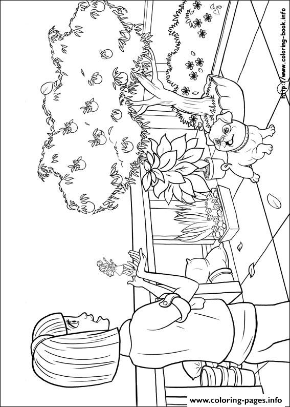 Barbie Thumbelina 08 coloring pages