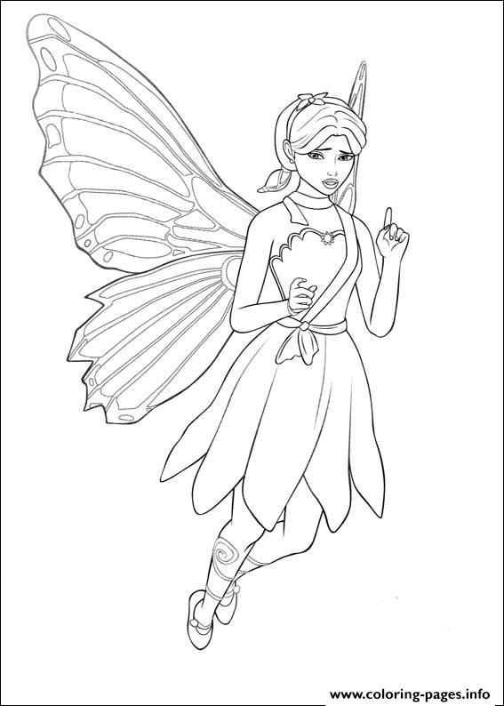 Barbie Mariposa 09 coloring pages
