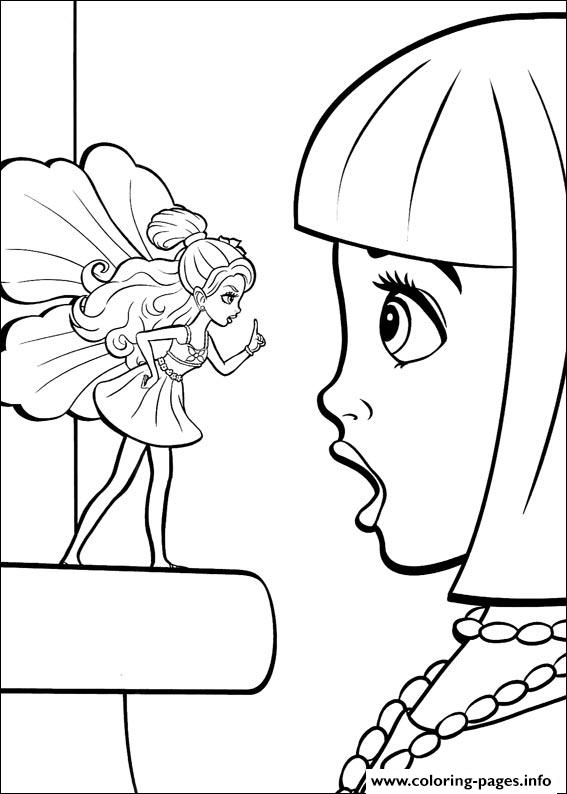 Barbie Thumbelina 24 Coloring Pages Printable