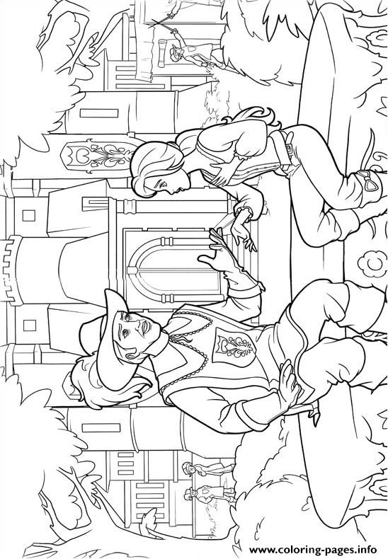 Barbie Musketeers 02 coloring pages