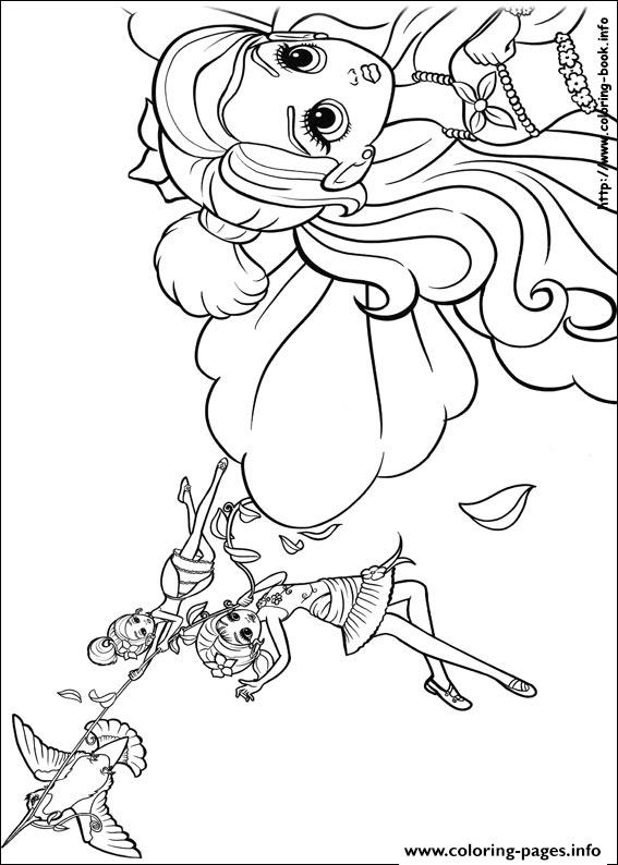 Barbie Thumbelina 15 coloring pages