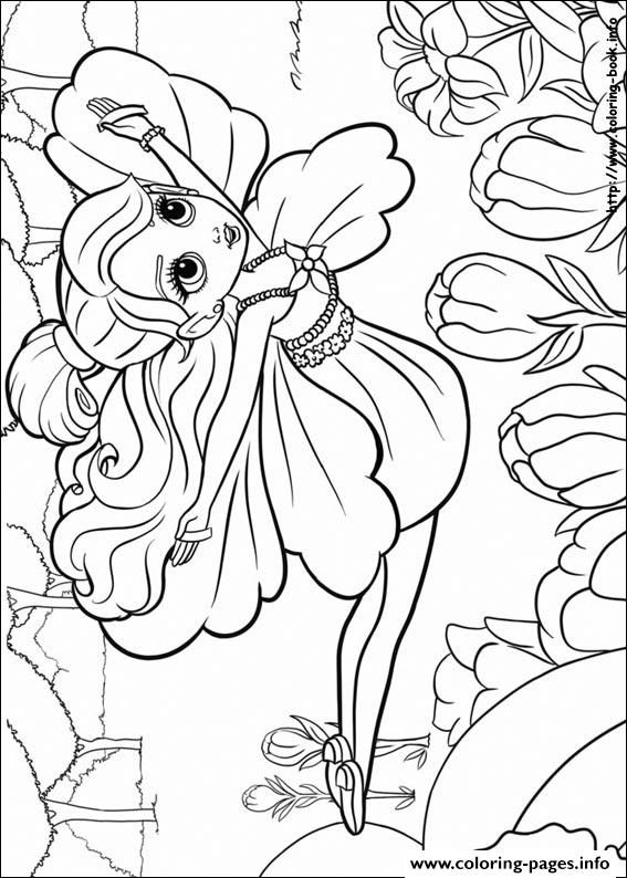 Barbie Thumbelina 18 coloring pages