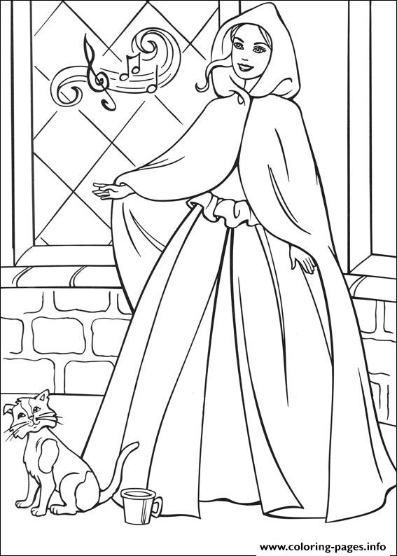 Barbie Princess 12 coloring pages