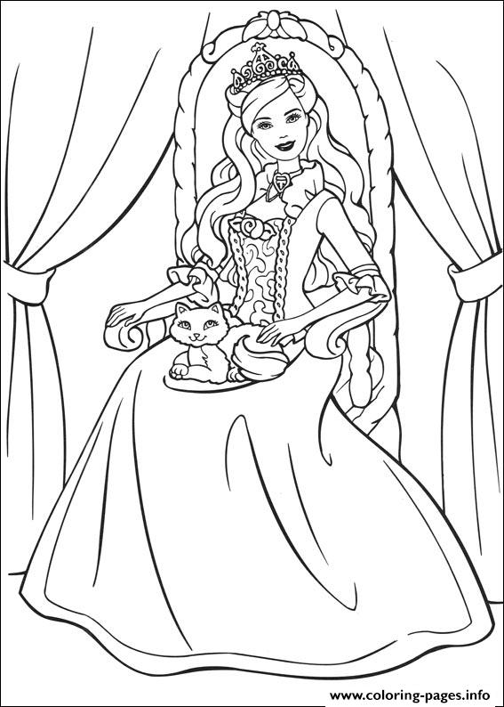 Barbie Princess 04 coloring pages