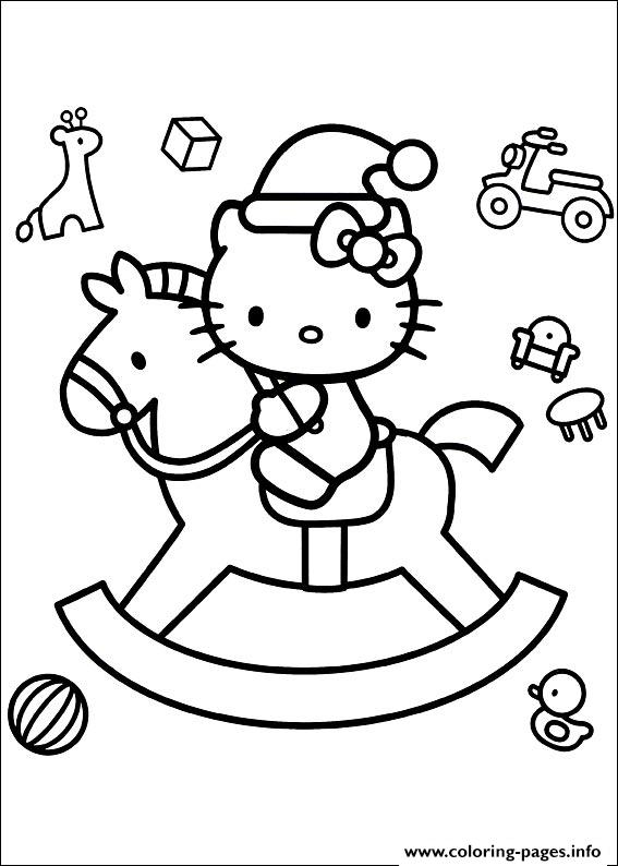 Hellokitty Christmas 07 Coloring Pages Printable