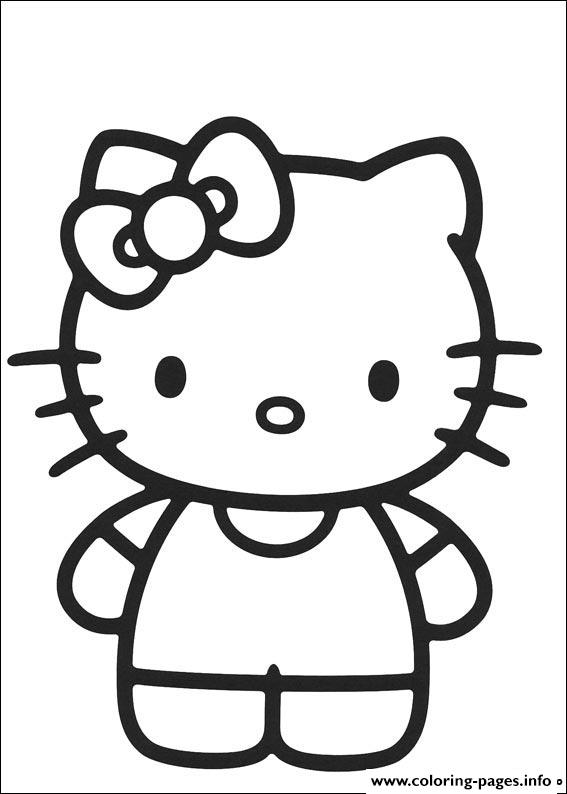 Hello Kitty 07 coloring pages