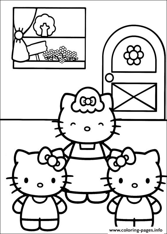 Hello Kitty 18 coloring pages
