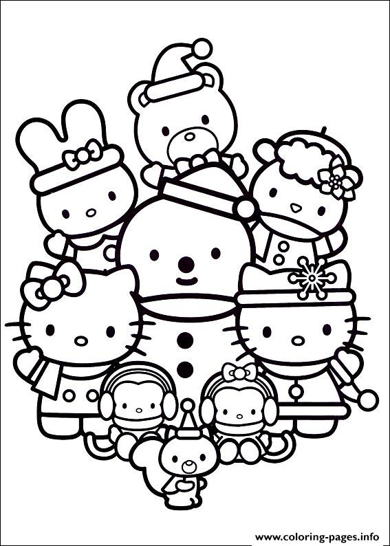 Hellokitty Christmas 04 coloring pages