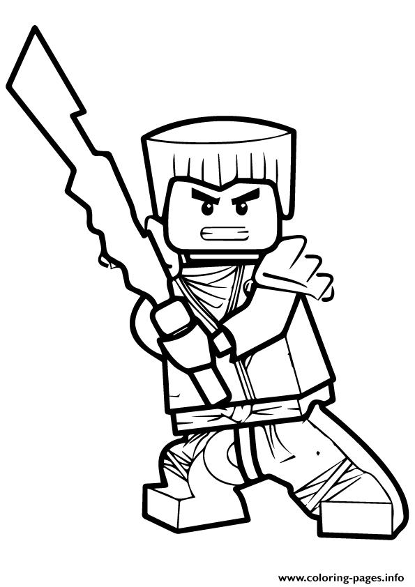 Ninjago Zane Coloring Pages Printable