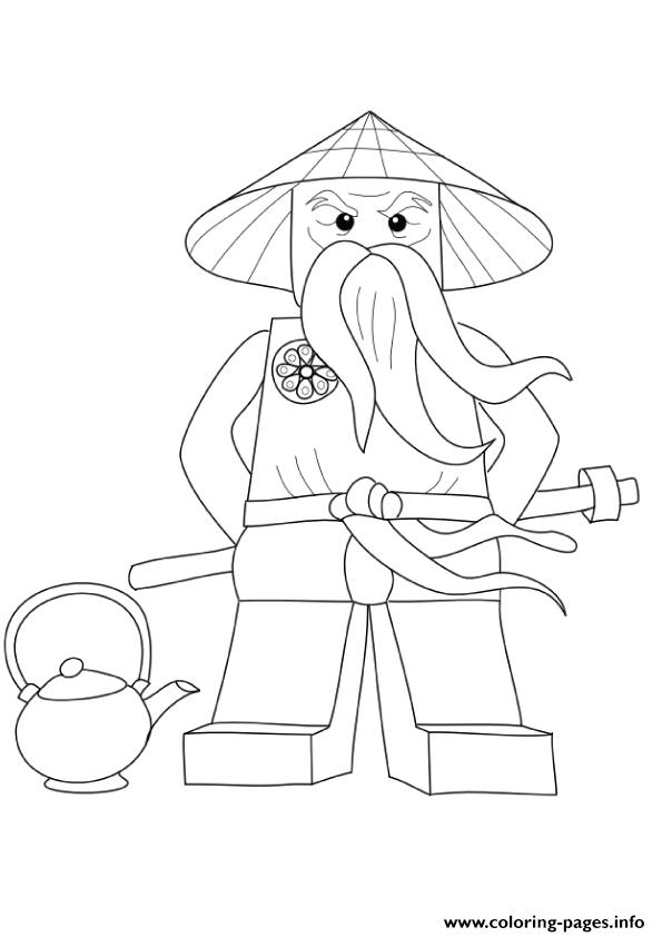 Ninjago Coloring Pages Sensei Wu | Coloring Pages