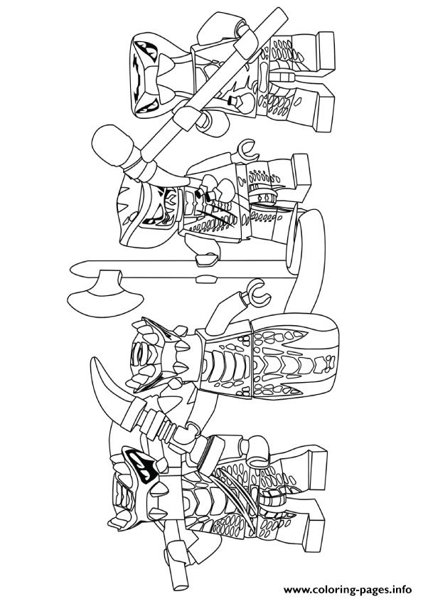 Ninjago Serpentine Coloring Pages Printable