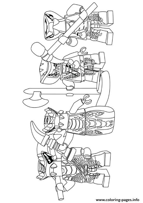 Ninjago Serpentine Coloring Pages Printable