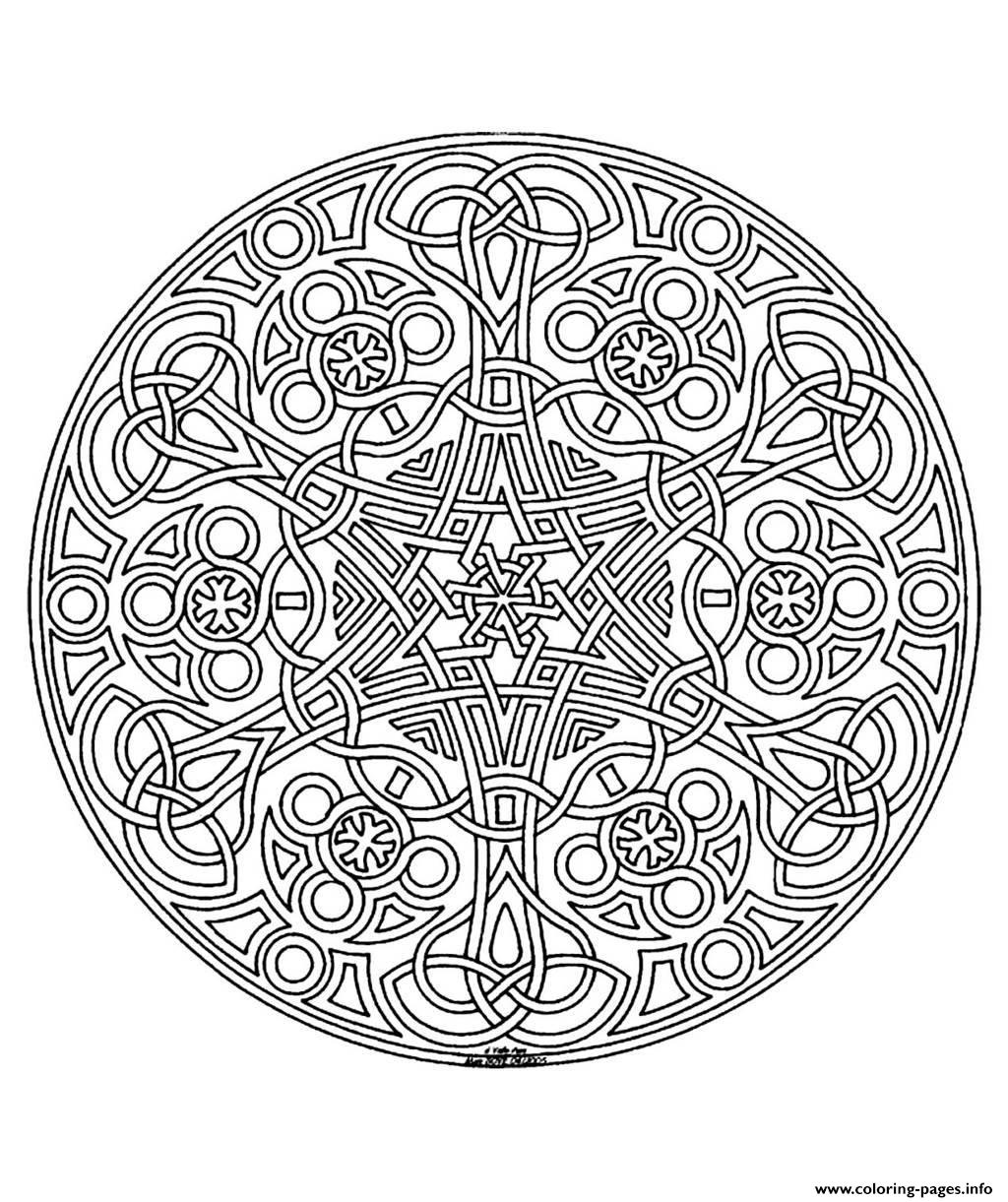 Free Mandala Difficult Adult To Print 14 Coloring Pages