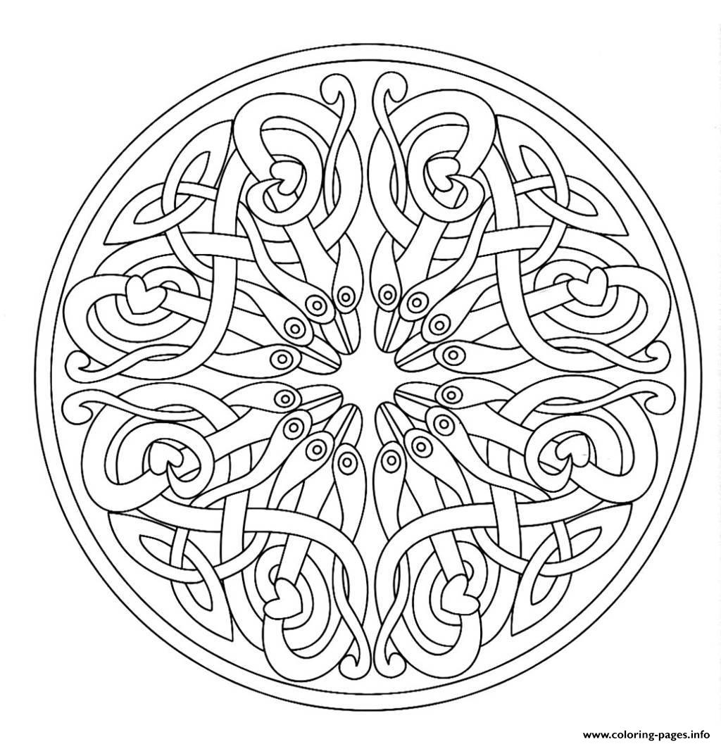 Mandala Adult 7  coloring pages