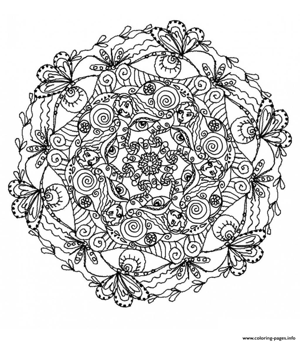 Mandala Difficult 5  coloring pages