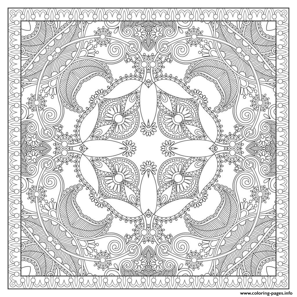 Adult Squared Mandala By Karakotsya 2  coloring pages