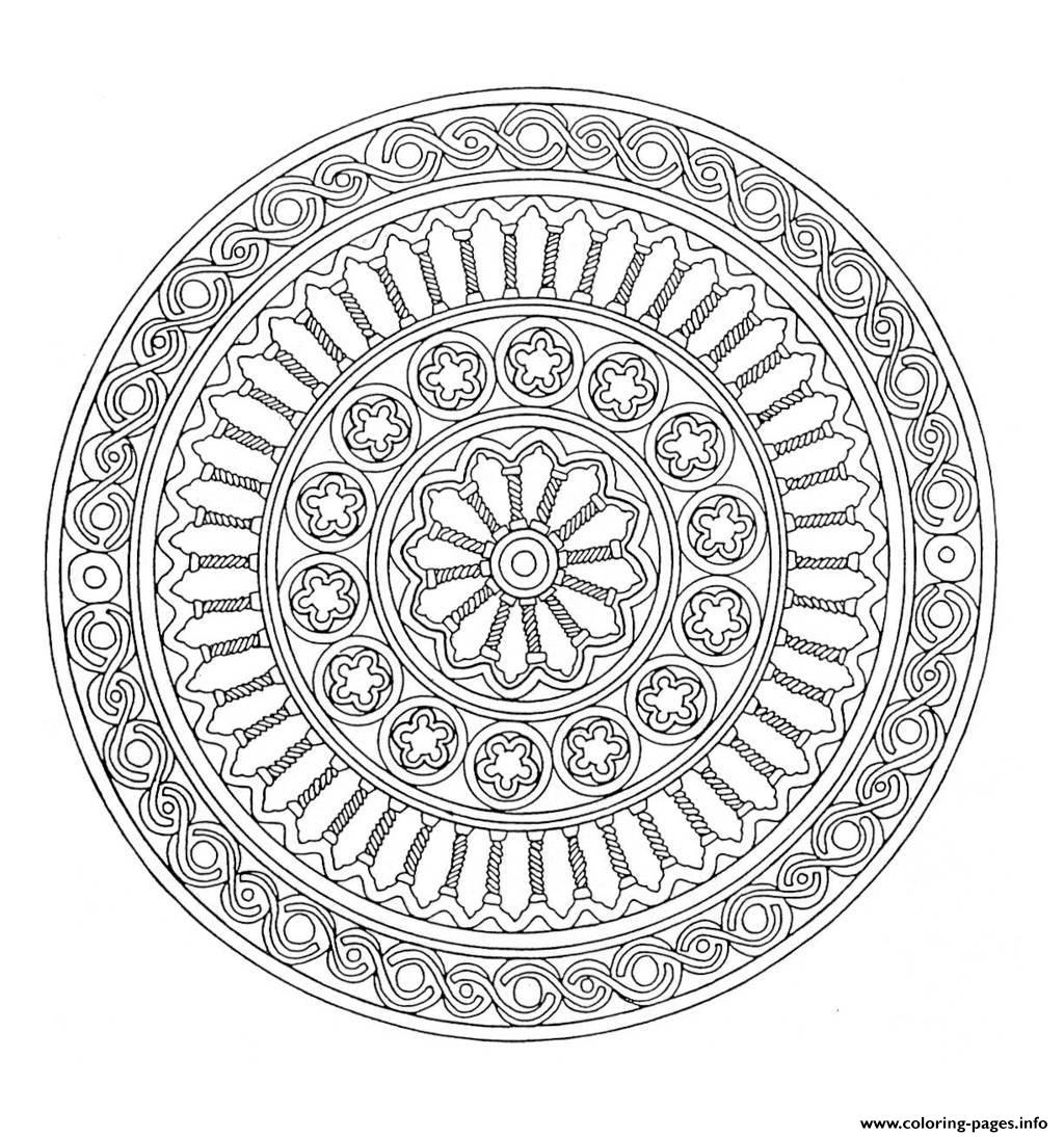 Mandala Adult 1 Coloring Pages Printable