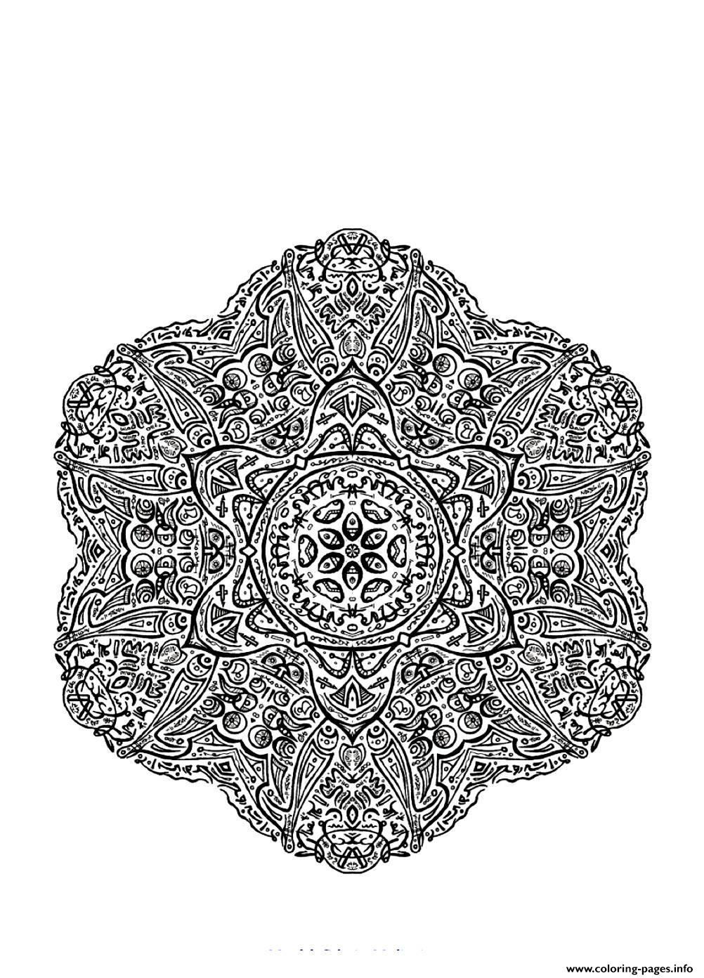 Mandala Difficult 4  coloring pages