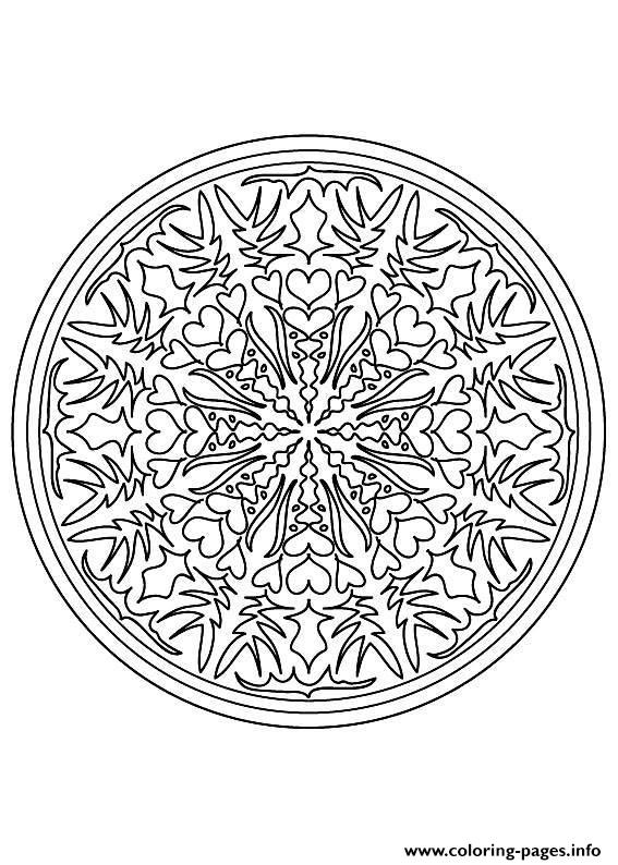 Mandala Difficult 9  coloring pages