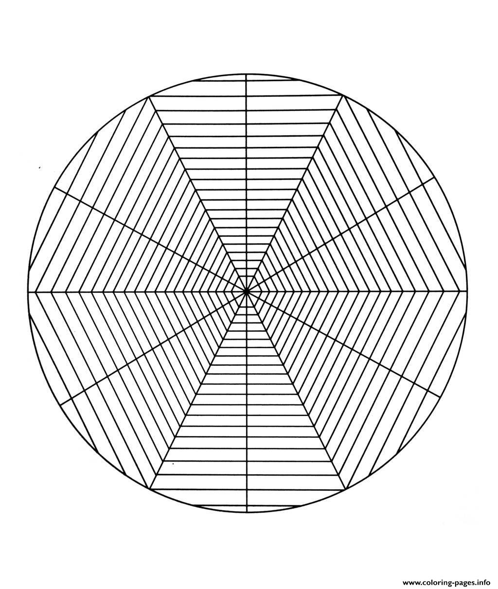 Free Mandala To Color Spider Cobweb  coloring pages