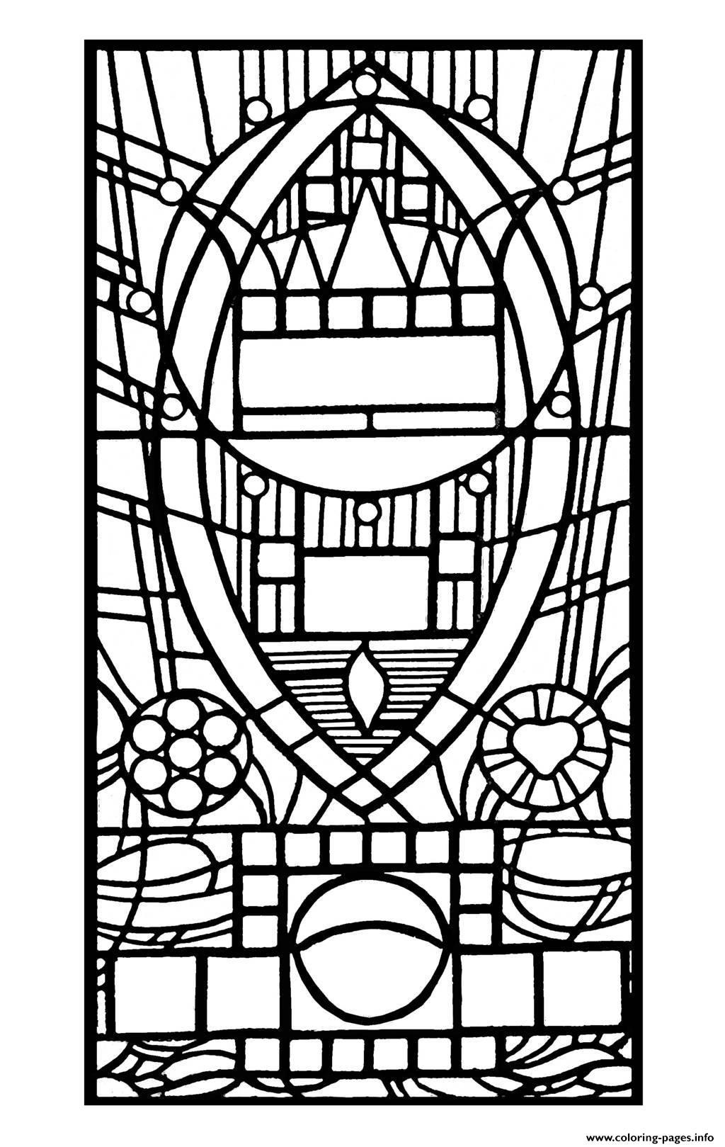 stained glass de l apparition bleue edegem coloring pages