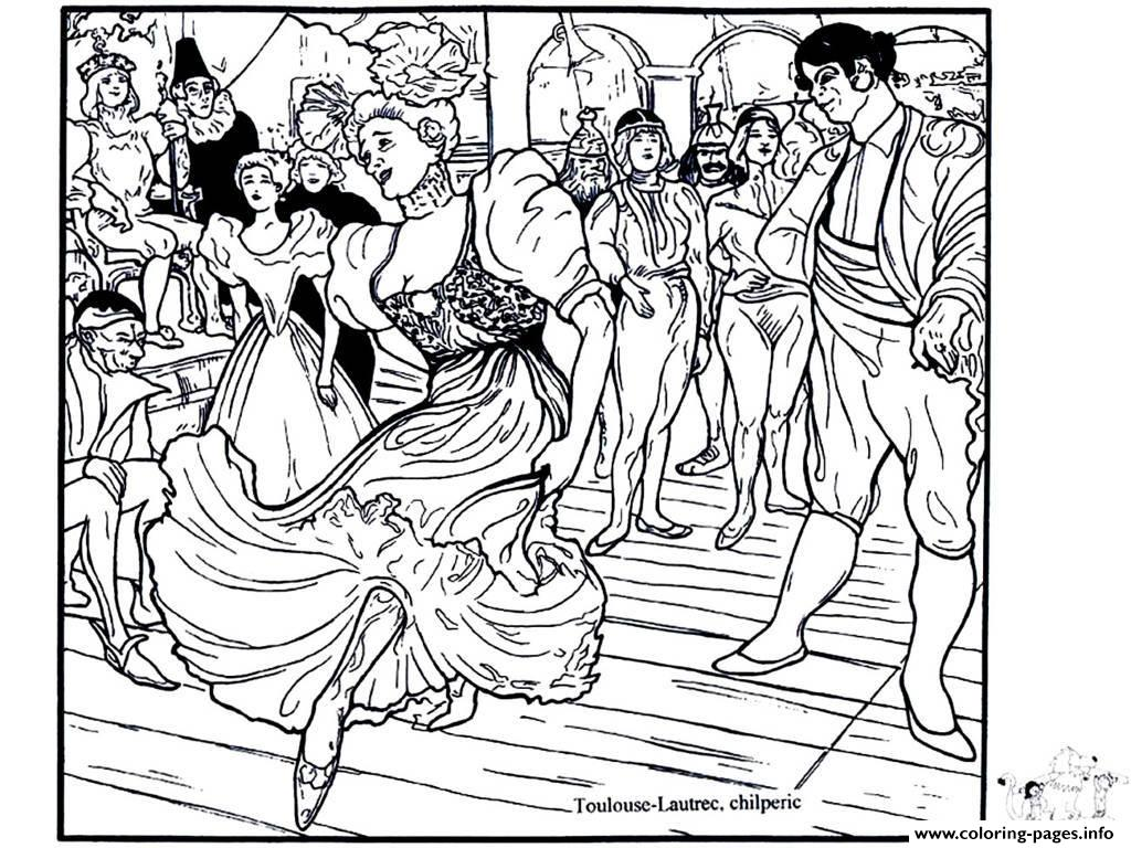Adult Toulouse Lautrec Chilperic coloring pages