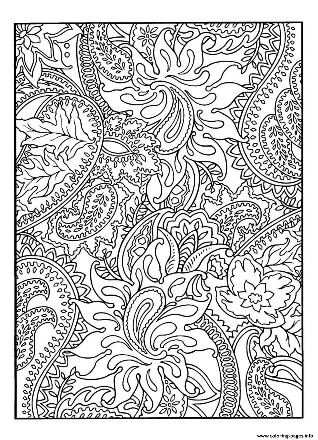 adult pretty patterns plant coloring pages - Coloring Patterns Pages