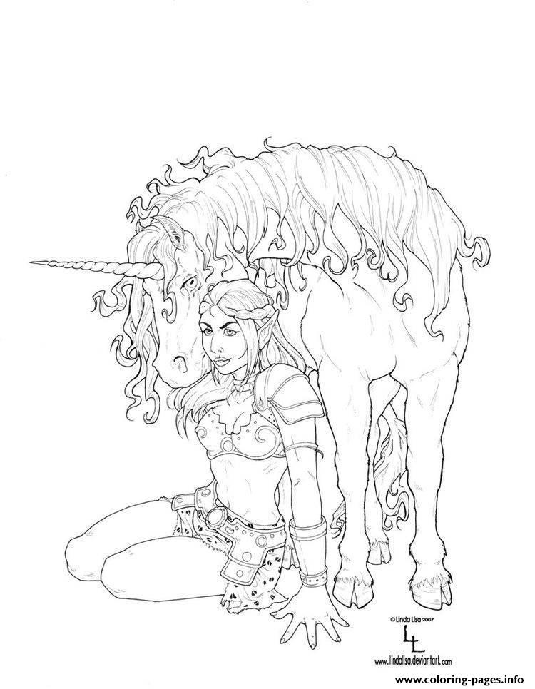adult fantasy unicorn coloring pages - Unicorn Coloring Page For Adults