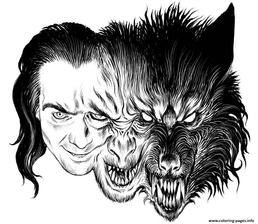 Adult Transformation Loup Garou Coloring Pages Printable