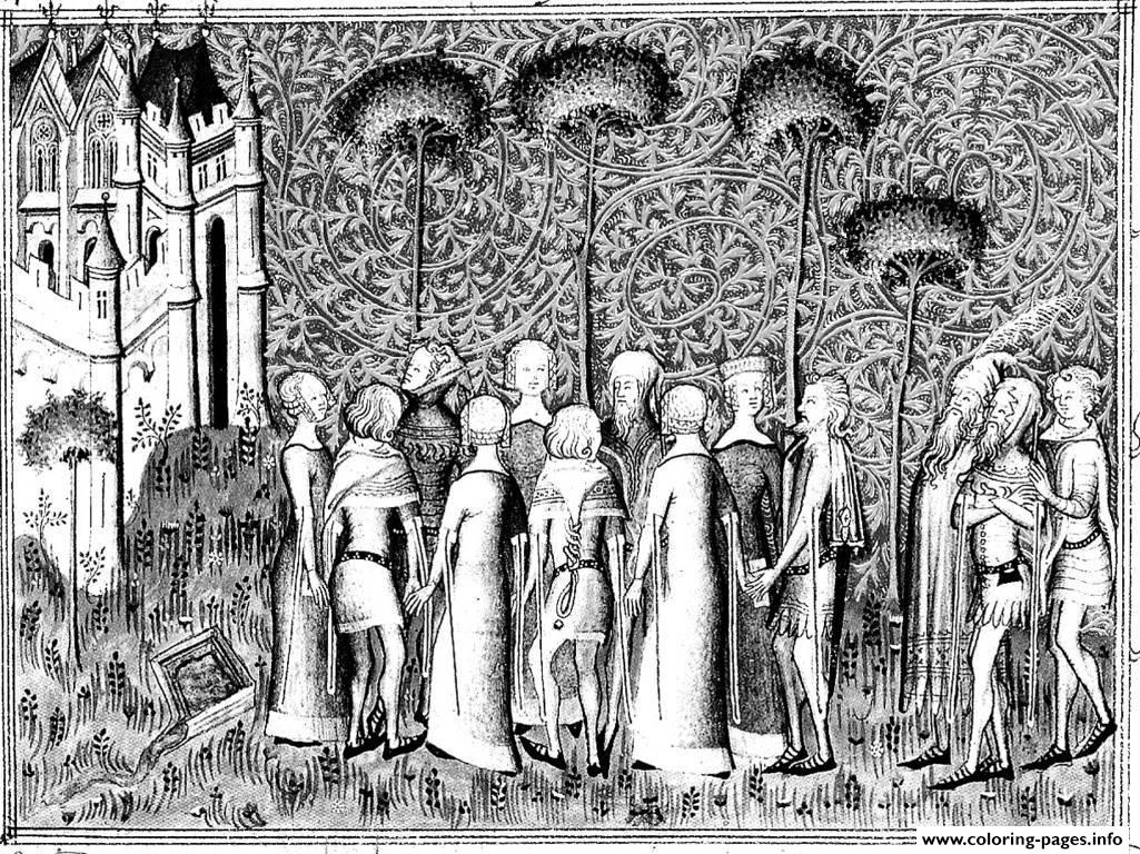 Adult Medieval Lords Coloring Pages