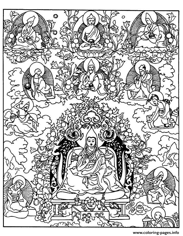Adult Tibetain Divinites coloring pages
