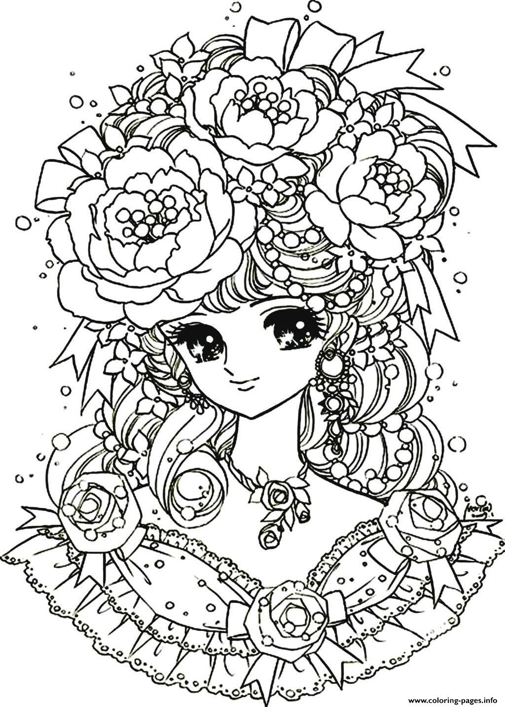 Printable coloring pages for adults flowers - Printable Coloring Pages For Adults Flowers 23
