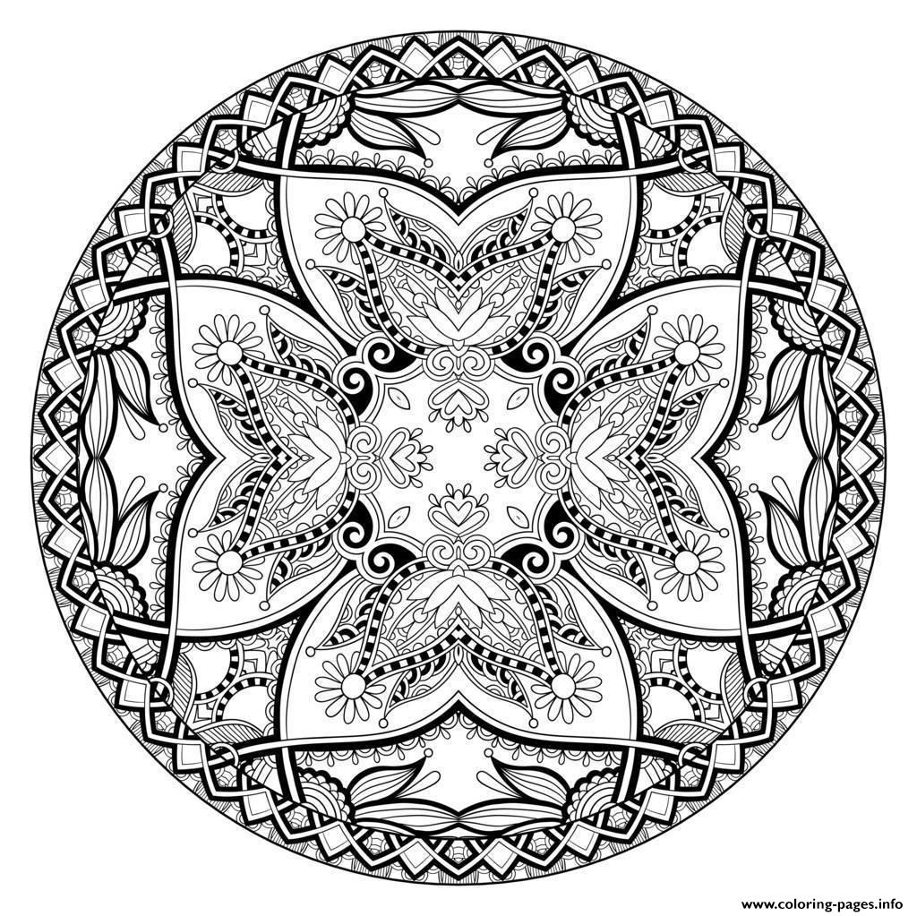 Adult Mandala By Karakotsya 2 coloring pages