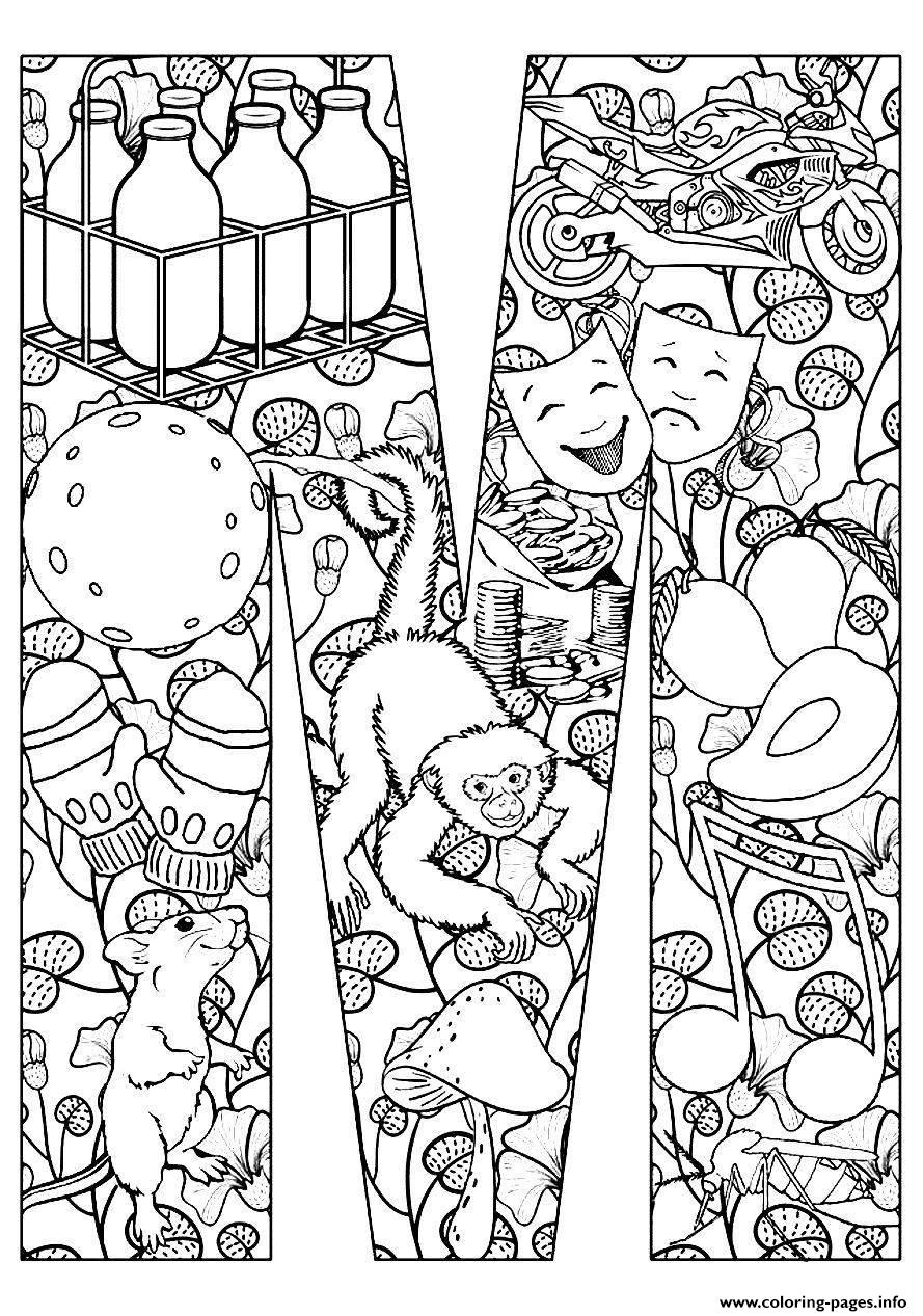 adult mouse and monkey coloring pages print download - Coloring Pages Monkeys Print