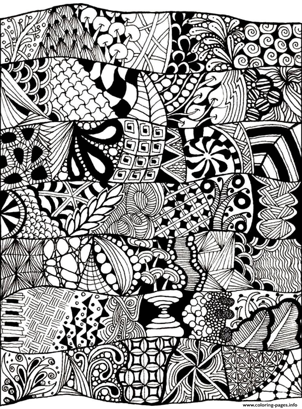 Adult Zen Anti Stress Abstract To Print Coloring Pages