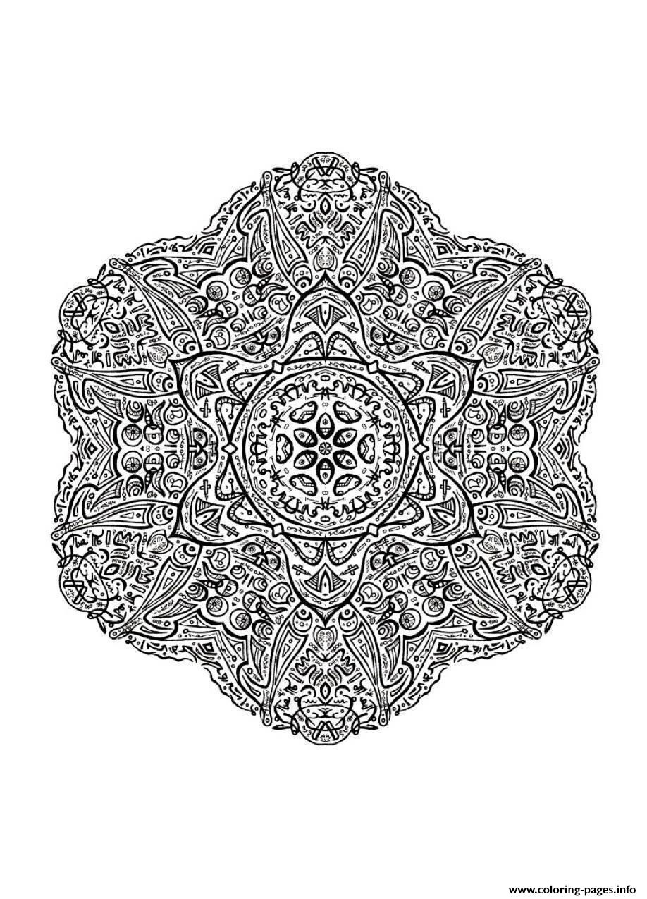 Mandala Adult 8 coloring pages