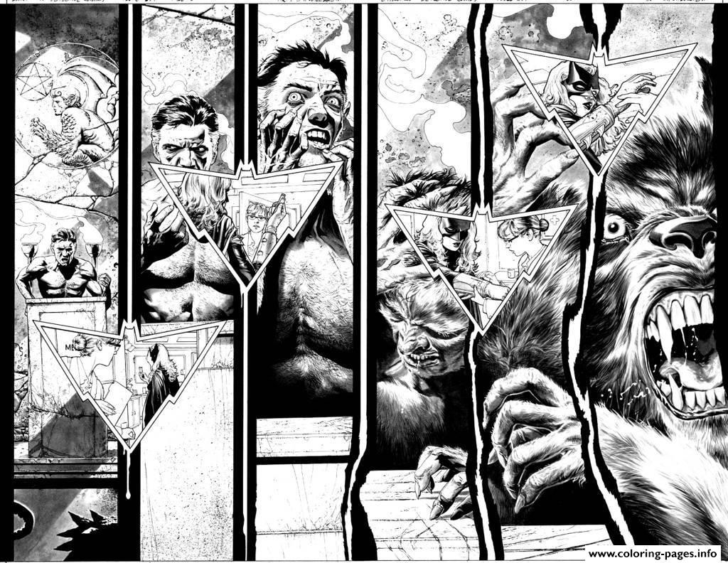 Adult Loup Garou Comics Coloring Pages Printable Comic Coloring Pages