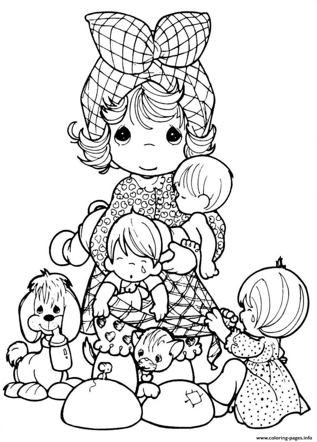 Adult Precious Moments Coloring Pages Printable